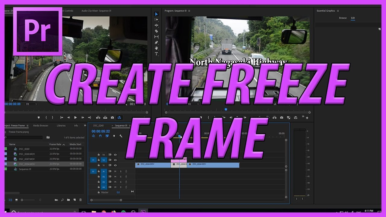 How to Create Freeze Frames in Adobe Premiere Pro CC (2018