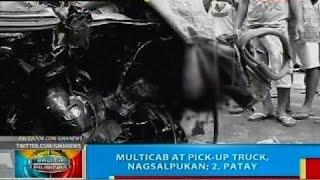 Multicab at pick-up truck, nagsalpukan sa Misamis Oriental; 2, patay