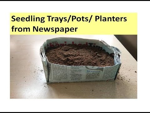 How to make pots from Newspaper !! Seedling starter Pots/Trays/Planters from newspaper