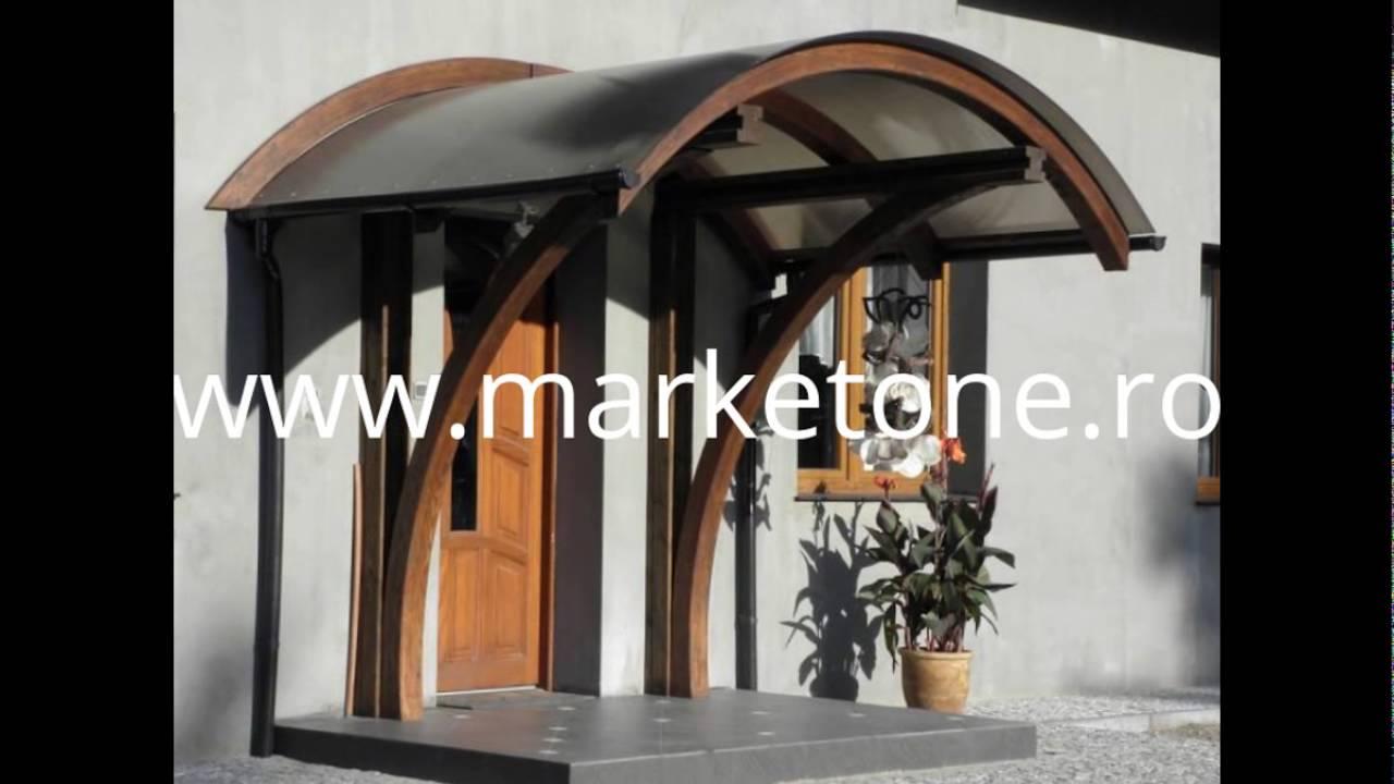 Copertina din lemn pentru intrarea in casa copertine lemn for Modele de balcon din lemn