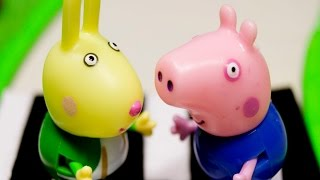 Свинка Пеппа и Джордж МАШИНКИ ПАРОВОЗ ДОРОГА. Мультик Игра на русском игрушки для детей