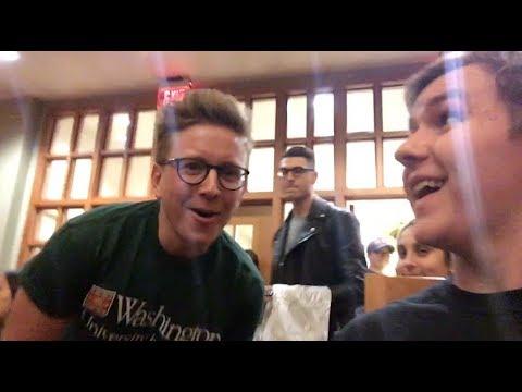 ANDERSON COOPER & TYLER OAKLEY VISIT WASHU! Vlog