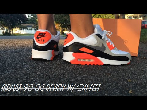 "AirMax 90 OG ""Infrared"" W/ On Feet Review"