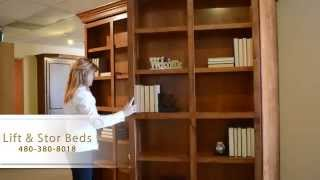 Custom Built Murphy Library Bed By Lift & Stor Beds In Arizona