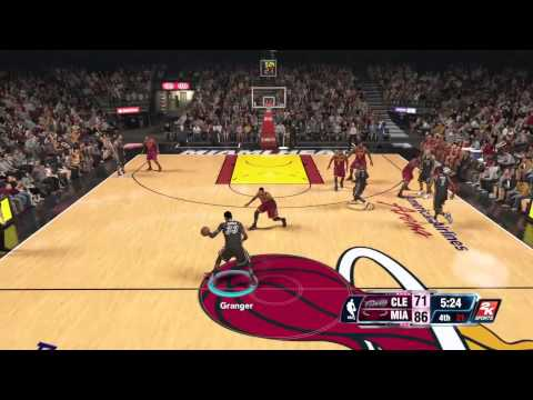NBA 2K-Danny Granger on fire!!!!