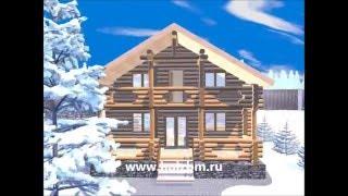 """""""Омск"""" Двухэтажный дом. Оцилиндрованное бревно."""