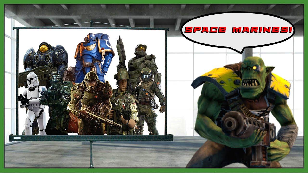 Ork Yells Every Space Marine Warhammer 40k Meme Youtube