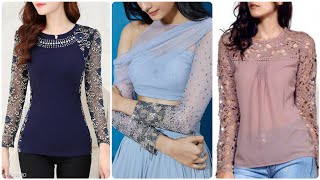 Top 45 Lace Sleeves Designs/ Net Sleeves Designs For Top Kurti & Qameez