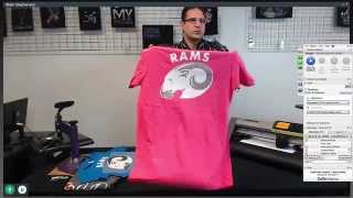 Cut n Press - Custom Vinyl T Shirt System    First Live Online Demo