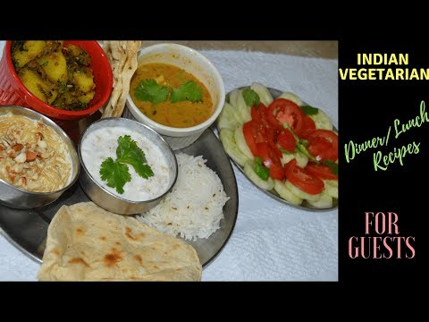 Indian Vegetarian Dinner/Lunch Menu For Guests  North Indian Thali- Quick And Easy | Real Homemaking