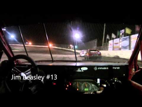 Jim Beasley #13 Kankakee County Speedway Sport Compact Heat Race 9-19-14