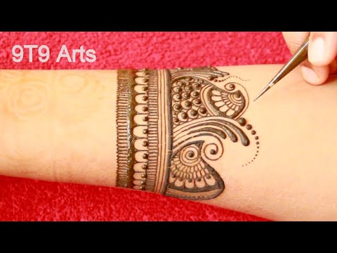 Creative & Stylish Dulhan Mehndi Designs by 9T9 Arts||Latest Bridal Henna||Full Hand Simple Mehe