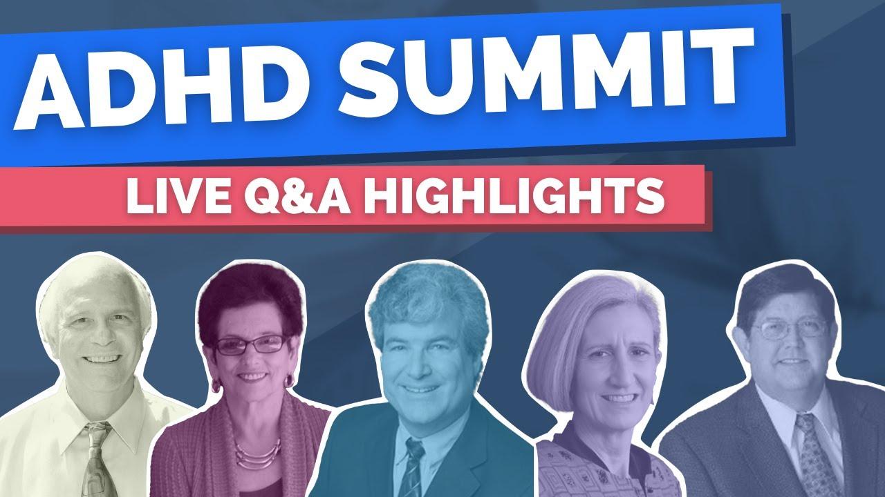 ADHD Summit LIVE Q&A Highlights - Motivation, Homework, and Medications