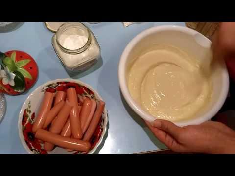 Самые вкусные и быстрые сосиски в тесте на кефире на сковороде