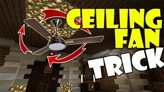 CEILING FAN TRICK | Minecraft PE (Pocket Edition) MCPE