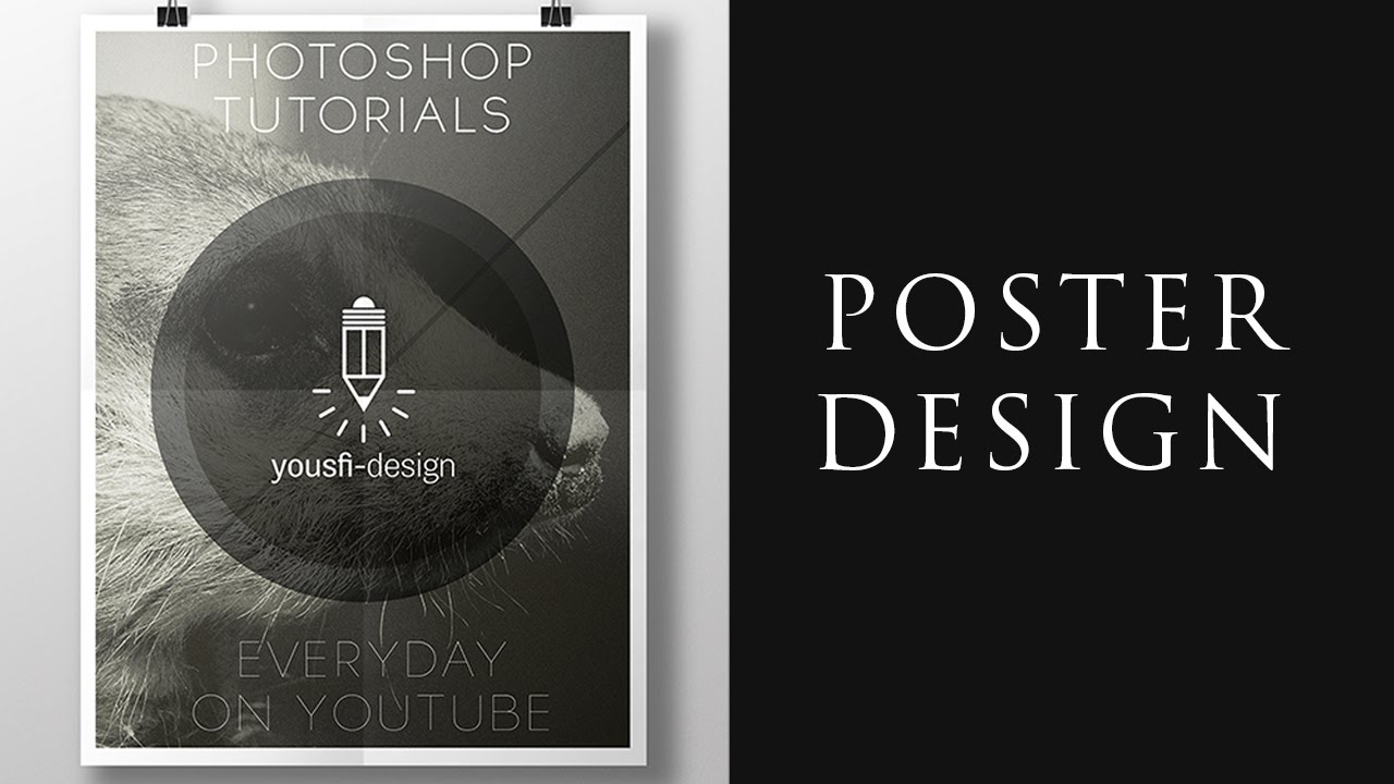 Photoshop poster design youtube -  Photoshop Tutorial Poster Design