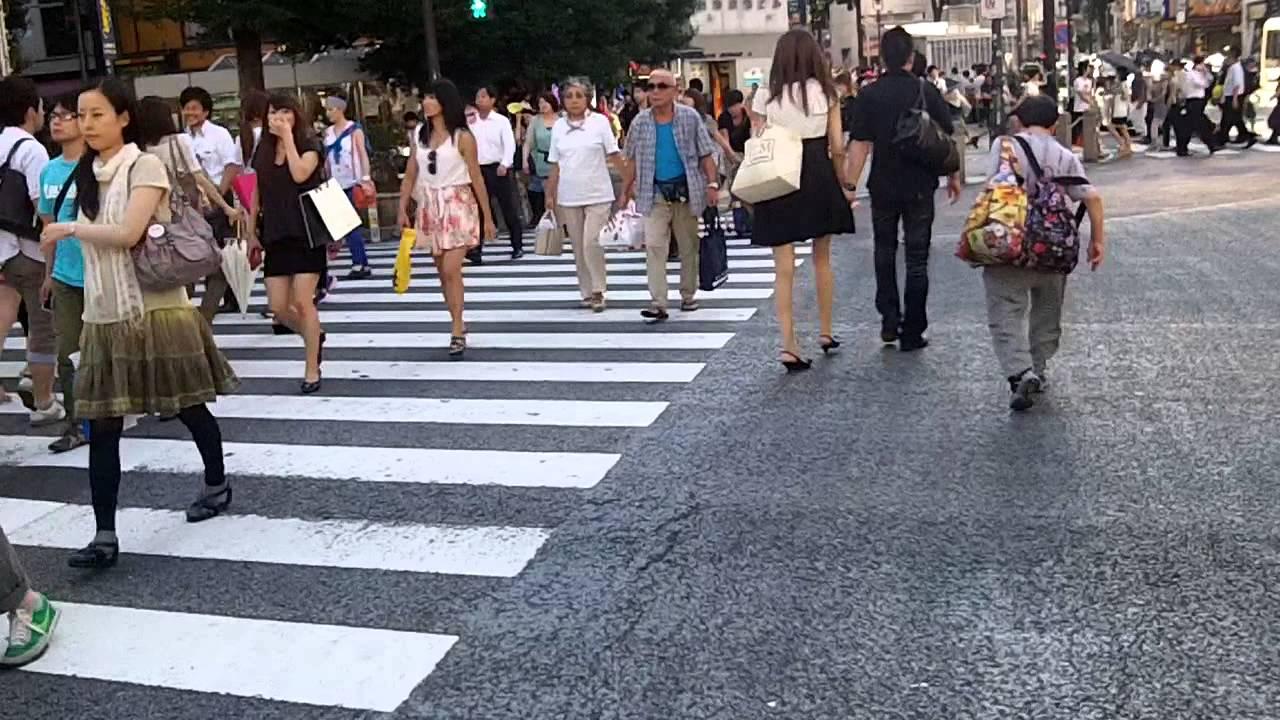 Image result for जापान में लोग पैदल चलते है