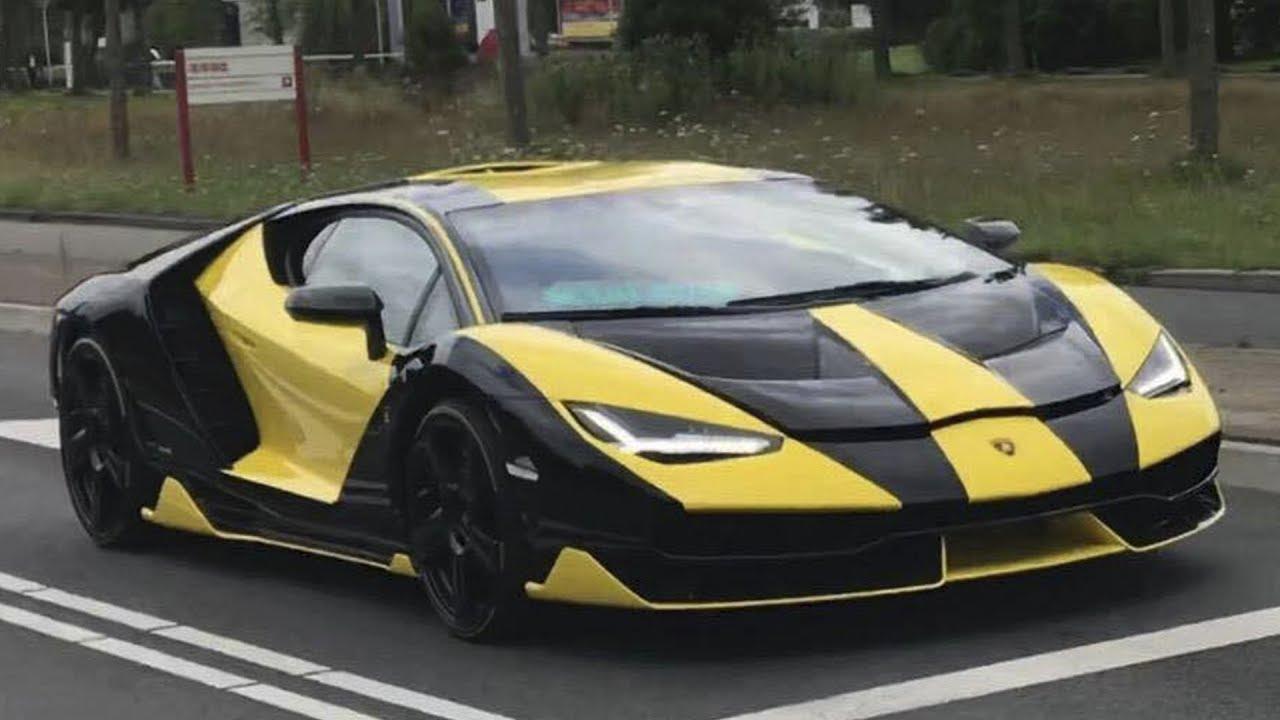 Black And Yellow Lamborghini Centenario On The Road In Holland Youtube