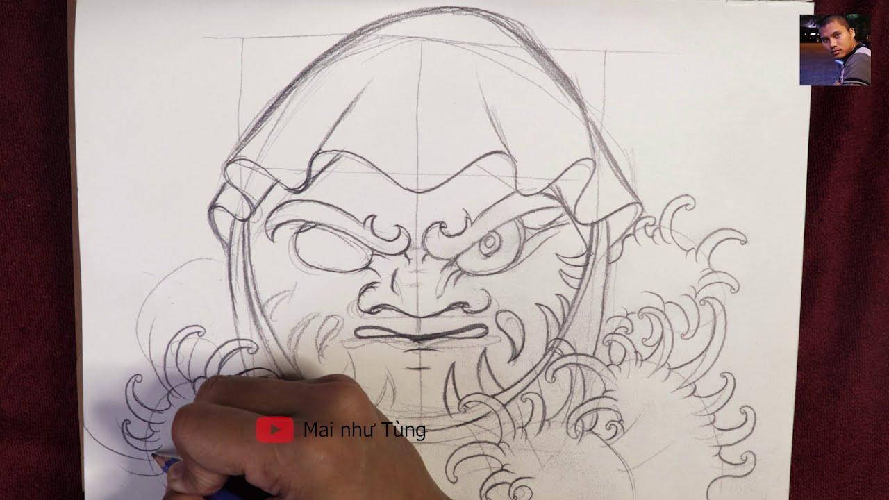 Vẽ daruma bằng bút chì ( daruma japan ) – draw daruma