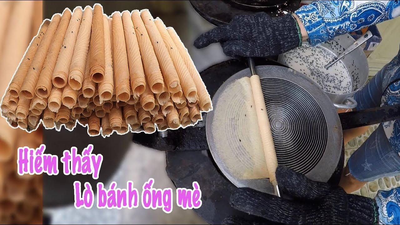 Lò bánh ống mè hiếm có của Dì gái ở Sài Gòn, bán cực rẻ 700 đồng/cái