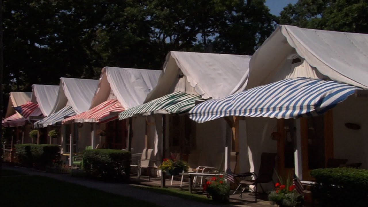 Ocean Grove Tent Community Disbands for Fall & Ocean Grove Tent Community Disbands for Fall - YouTube