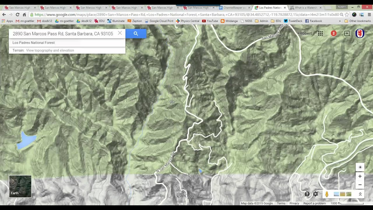 How To Use Google Maps To Find What Watershed You Live In YouTube - How to determine elevation on google maps