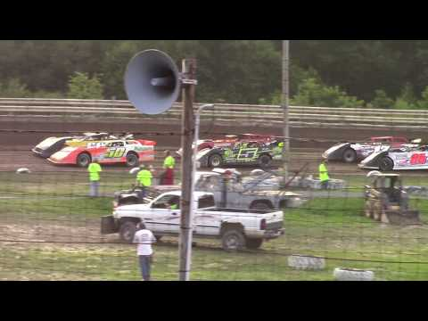 Hummingbird Speedway (7-13-19): Swanson Heavy Duty Truck Repair Semi-Late Model Heat Race #2