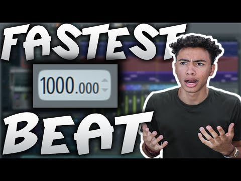 Fastest Beat EVER?! | Making A Beat At 1000 BPM! (Fl Studio 12 Tutorial) | Sharpe