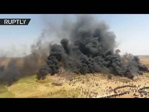 قطاع غزة.. طائرة من دون طيار ترصد مسيرة العودة على الحدود مع إسرائيل