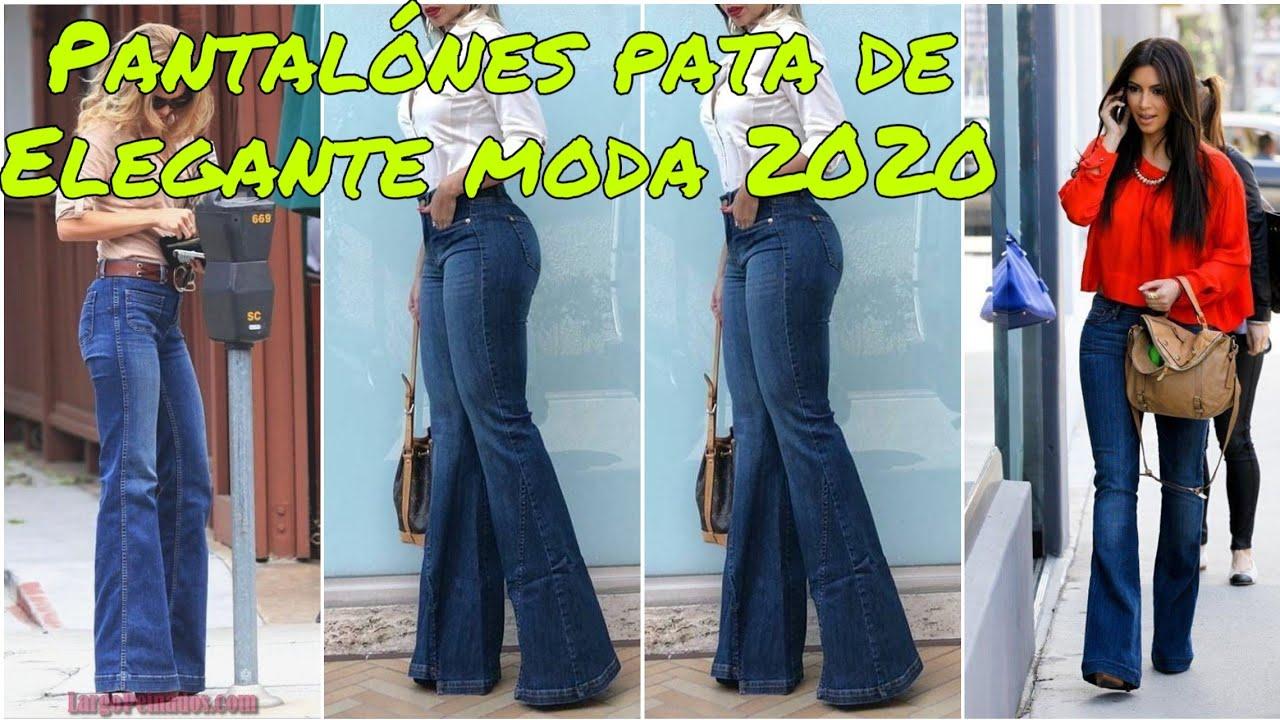 Pantalones De Campana Acampanados O De Pata De Elefante Moda 2020 Pantalon Pata De Elefante Youtube