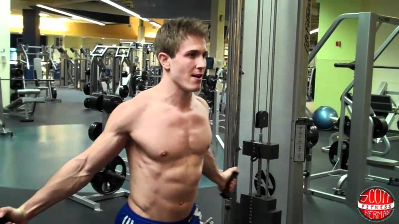 How to low cable chest fly youtube for Floor underhand cable fly