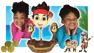 family fun game for kids don t rock the boat jake the neverland pirates egg surprise toys naiah