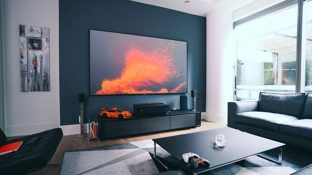 The greatest tv living room setup ever youtube - What size tv to get for living room ...