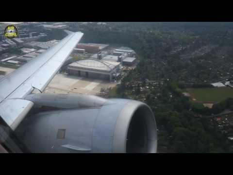 Lufthansa A319 Loud and Powerful CFM 56 view on Takeoff from Hamburg to Muich [AirClips]