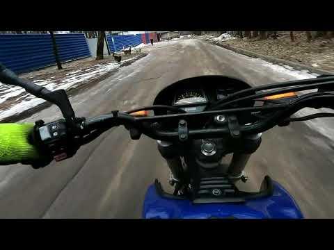 Зимний тест-драйв YAMAHA XT400 Artesia. Ездим по-пенсионерски!