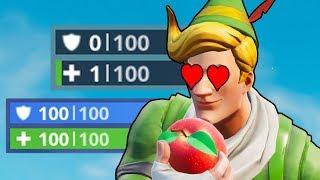 NUR mit Pilzen und Äpfeln gewinnen 😂 | Fortnite Battle Royale