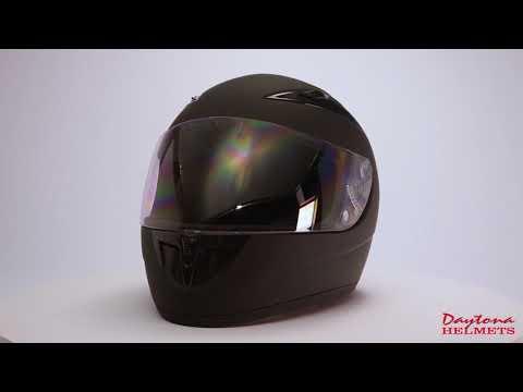 Daytona Shadow Dull Black Full Face DOT Motorcycle Helmet F1-B