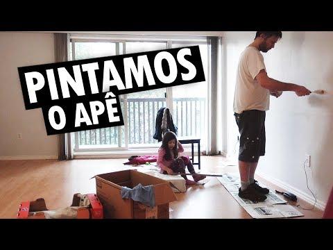 PINTAMOS O APARTAMENTO ANTIGO PARA PODER MUDAR - Vlog Ep.104