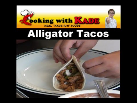 Cooking with kade makes alligator tacos on the cajun tv network cooking with kade makes alligator tacos on the cajun tv network forumfinder Choice Image