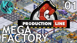 Production Line EP01 - Mega Factory - Alpha 1.43 Manufacturing Tycoon Gameplay