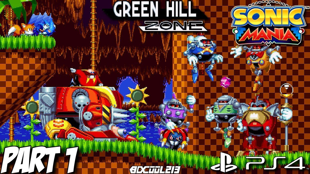 Sonic Mania Gameplay Walkthrough Part 1 - Green Hill Zone - PS4 Lets Play