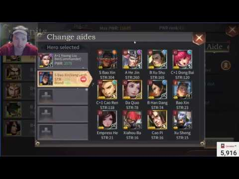 Powering up with aides (FREE TO PLAY METHOD) | three kingdoms epic war