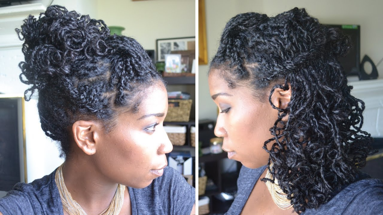 Quick Natural Hair Styles: Quick And Easy Party Hairstyles With Mini Twists Natural