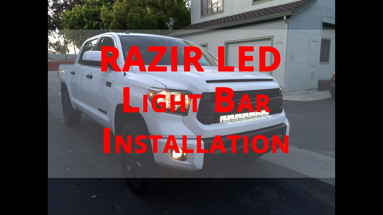 How to install razir led light bar 2015 toyota tundra trd youtube mozeypictures Image collections