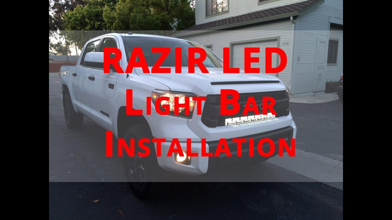 How to install razir led light bar 2015 toyota tundra trd youtube aloadofball Images