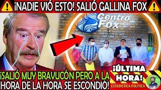 SALIO GALLINA ¡ MUY BRAVUCON VICENTE FOX PERO ASI SE ESCONDIO EN SU RANCHO ! LO QUE NO VISTE