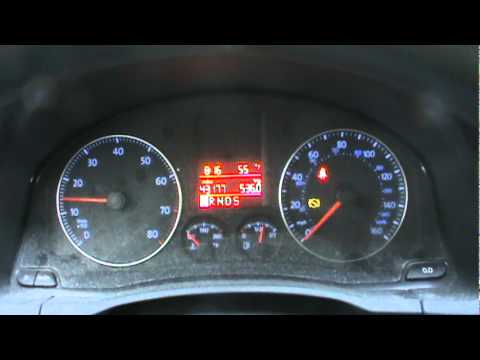 2009 Volkswagen Jetta Dash Cold Start