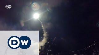 Первые кадры ракетного удара США по Сирии   эксклюзив Пентагона