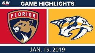 NHL Highlights | Panthers vs. Predators - Jan. 19, 2019