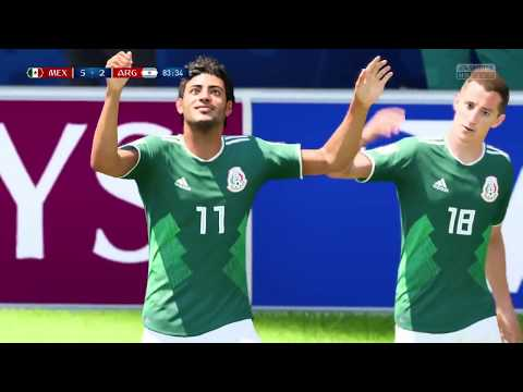 Mexico vs Argentina Mundial Russia 2018 fifa 18 online
